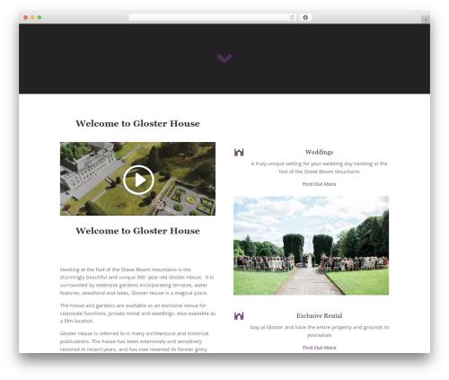 Divi landscaping WordPress theme - glosterhouse.ie