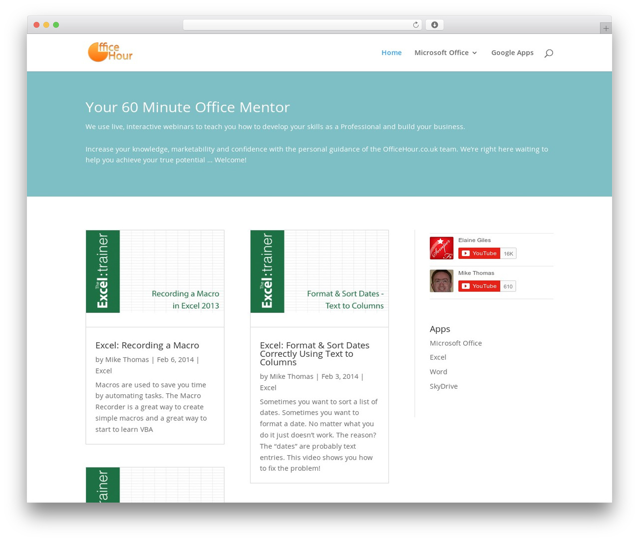 Divi WordPress page template - officehour.co.uk