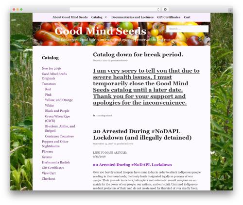 GeneratePress WordPress theme - goodmindseeds.org