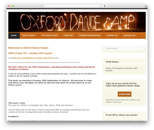 GoodSimple WP theme - oxforddancecamp.org