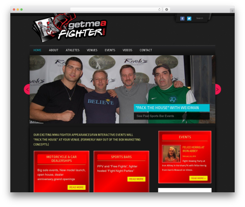 Gym Extreme Theme WordPress template for business - getmeafighter.com