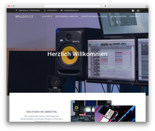 Materialis PRO WordPress website template - spillobeatz.com
