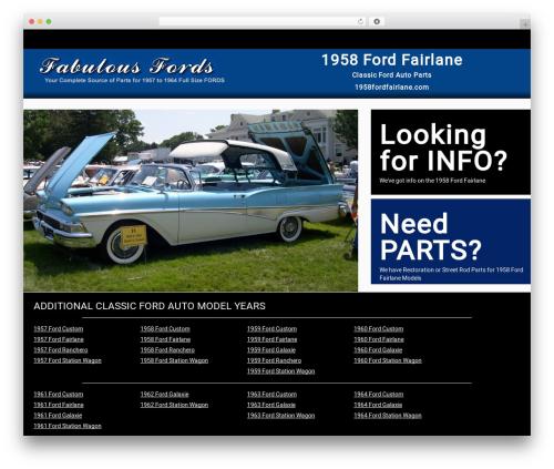 Responsive Car Dealer Theme best WordPress theme - 1958fordfairlane.com