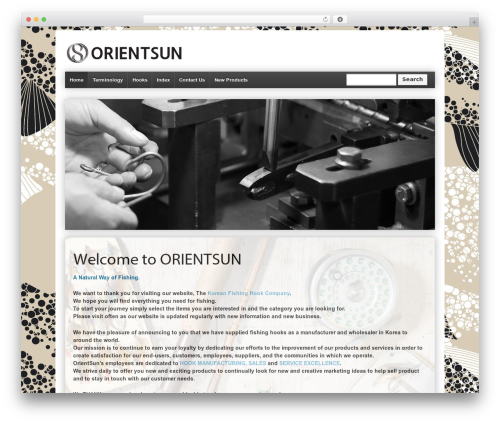 Responsive premium WordPress theme - orientsun.co.kr