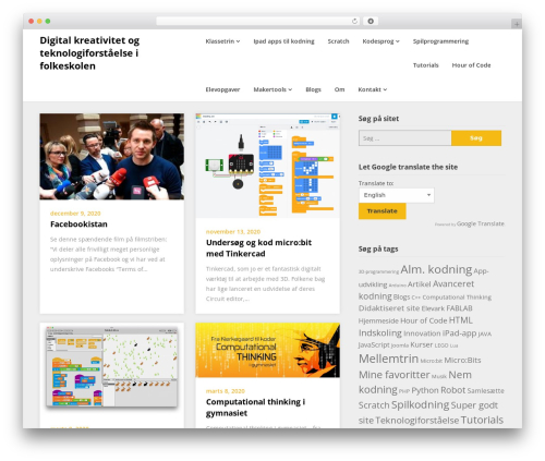 Superb Landingpage WordPress template - 4code.dk