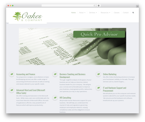 Theme WordPress Tucson - oakesandcompanyinc.com