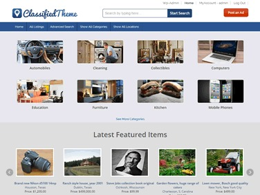 WP theme ClassifiedTheme