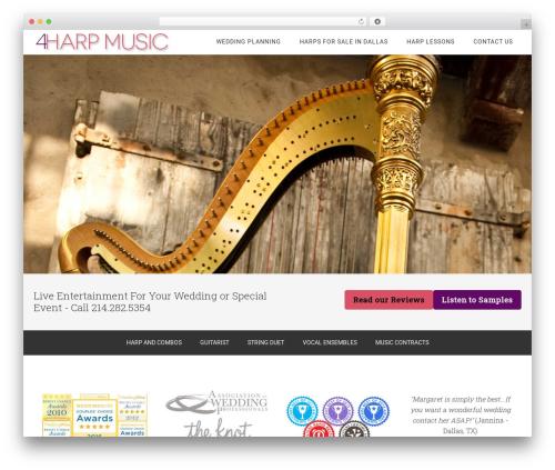 Minimum Pro WordPress theme - 4harpmusic.com