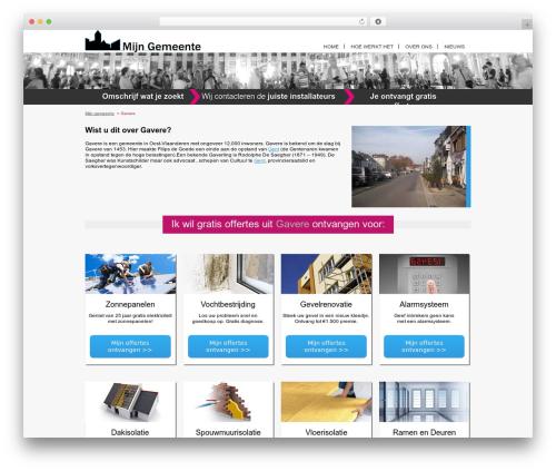 Real Property WordPress website template - gavere.mijn-gemeente.be