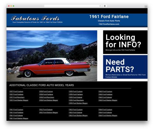 Responsive Car Dealer Theme WordPress theme - 1961fordfairlane.com