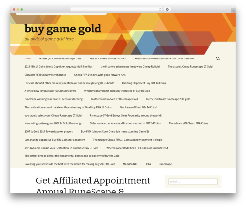 Twenty Thirteen WordPress gaming theme - 2buyrsgold.com