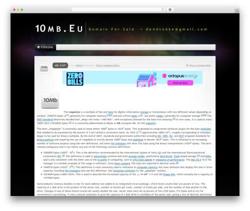WordPress theme Mystique 2 - 10mb.eu