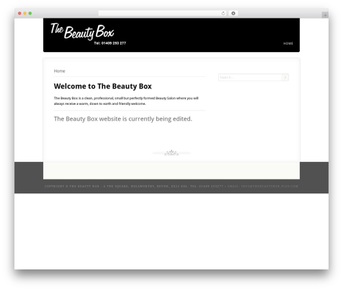 Acoustic best WordPress template - thebeauty-box.co.uk