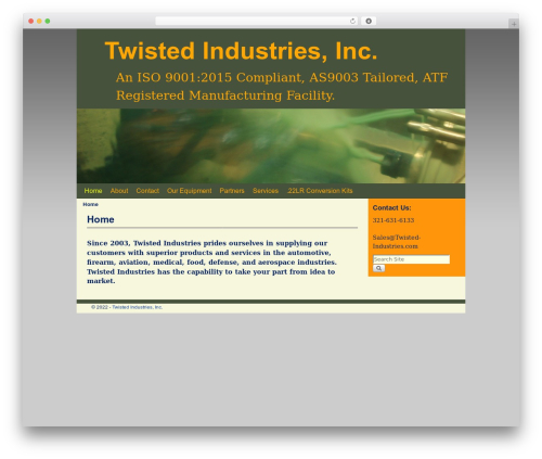 Aspen WordPress theme design - twisted-industries.com