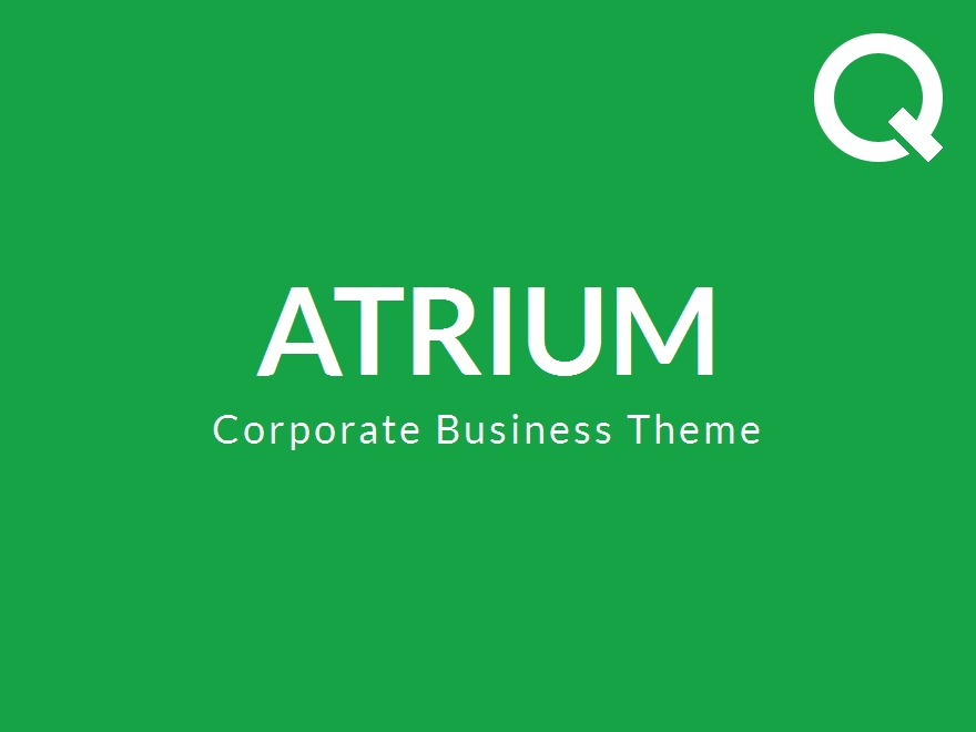 Atrium - Responsive One Page WordPress Theme company WordPress theme