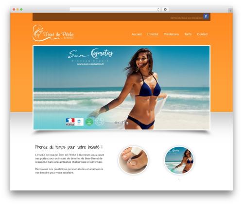 Beauty Salon top WordPress theme - teintdepeche.com