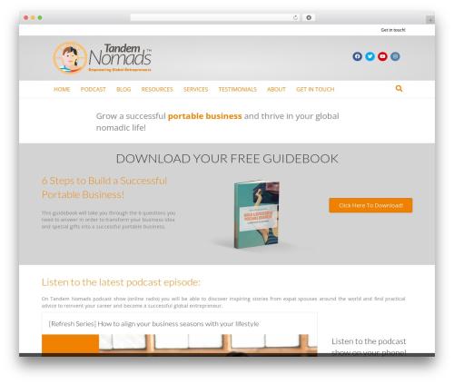 Beaver Builder Theme WordPress theme design - tandemnomads.com
