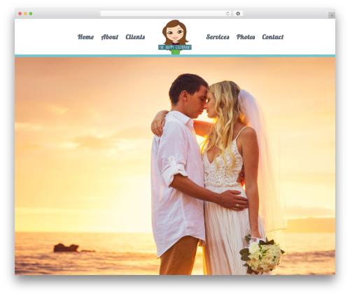 Best WordPress template Wedding Suite - thehappycelebrant.ie