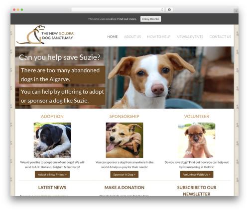 Best WordPress theme Dynamik-Gen - thegoldradogsanctuary.com