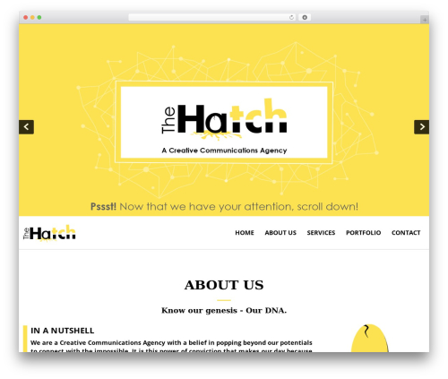 Best WordPress theme SKT White - thehatchmedia.com
