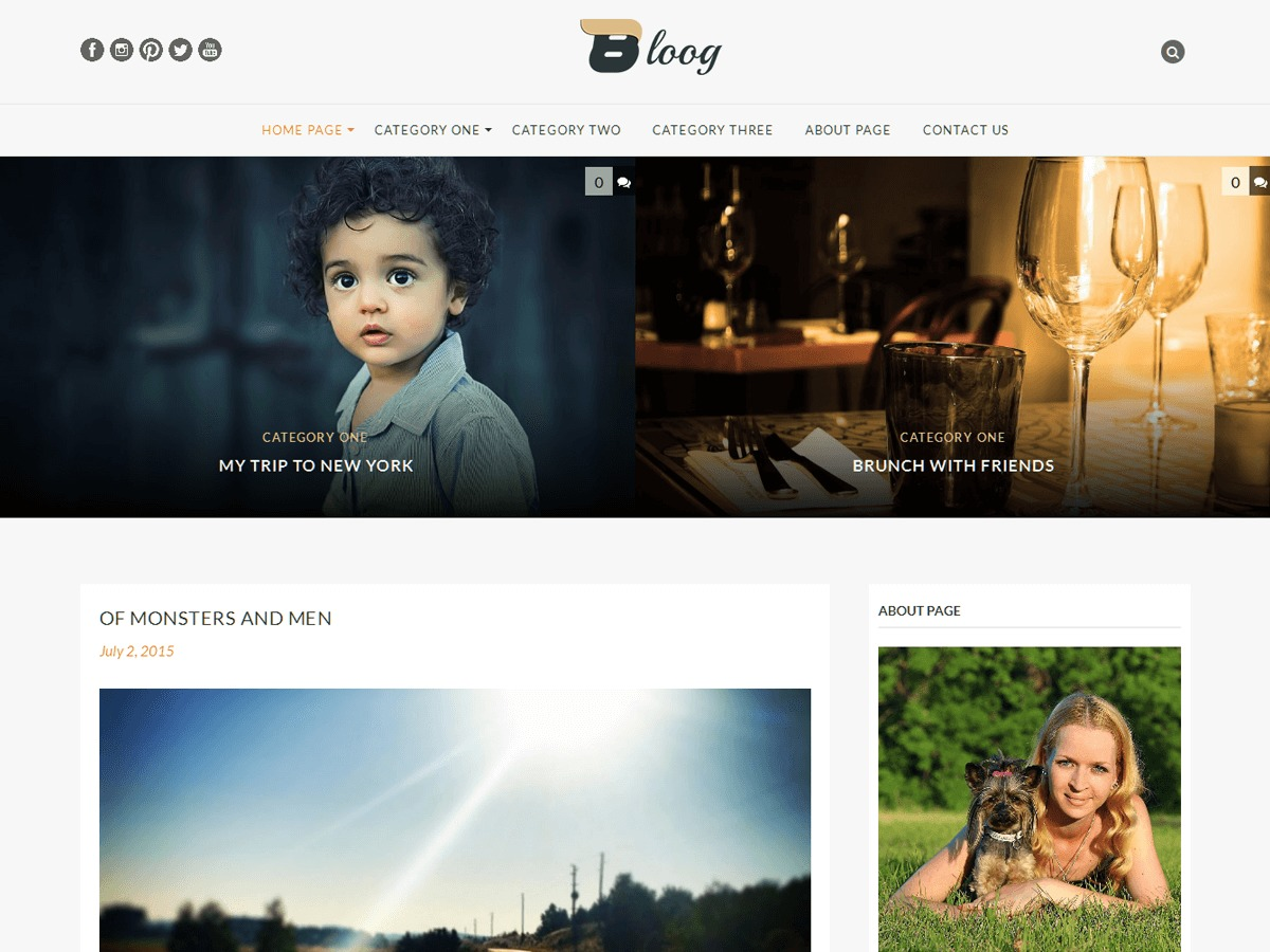 Bloog Lite best free WordPress theme