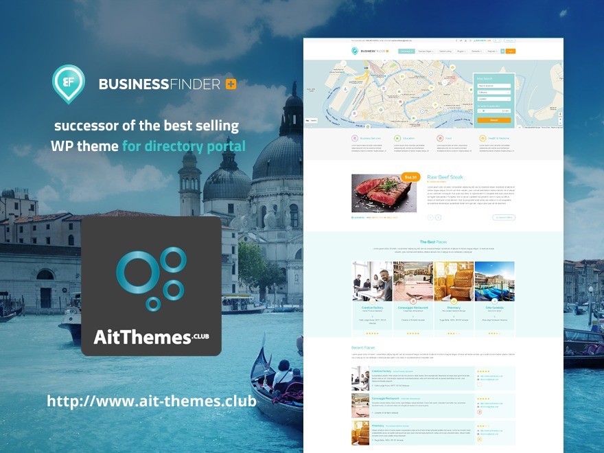 BusinessFinder+ WordPress template for business