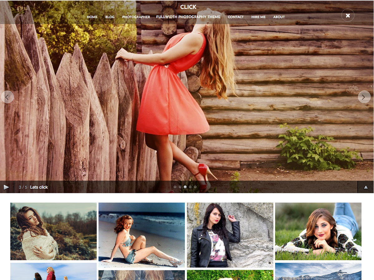 Click free WordPress theme