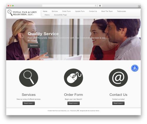 Customizr free website theme - totaltaxandlien.com