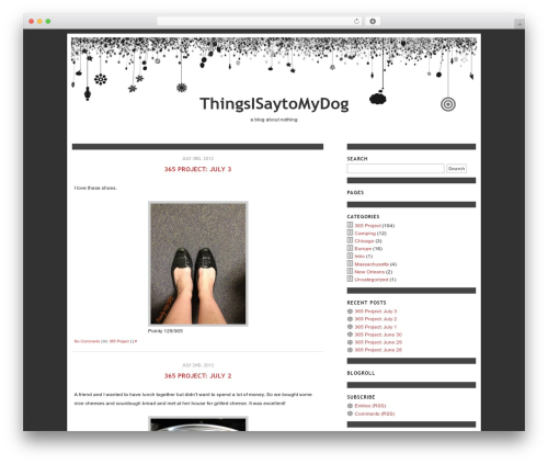 Daydreams theme WordPress - thingsisaytomydog.com