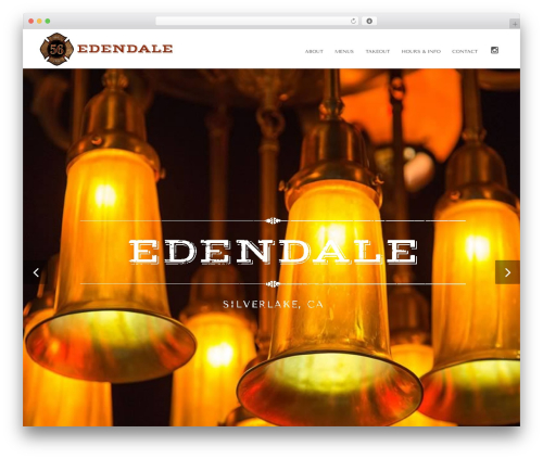 DMS WordPress website template - theedendale.com