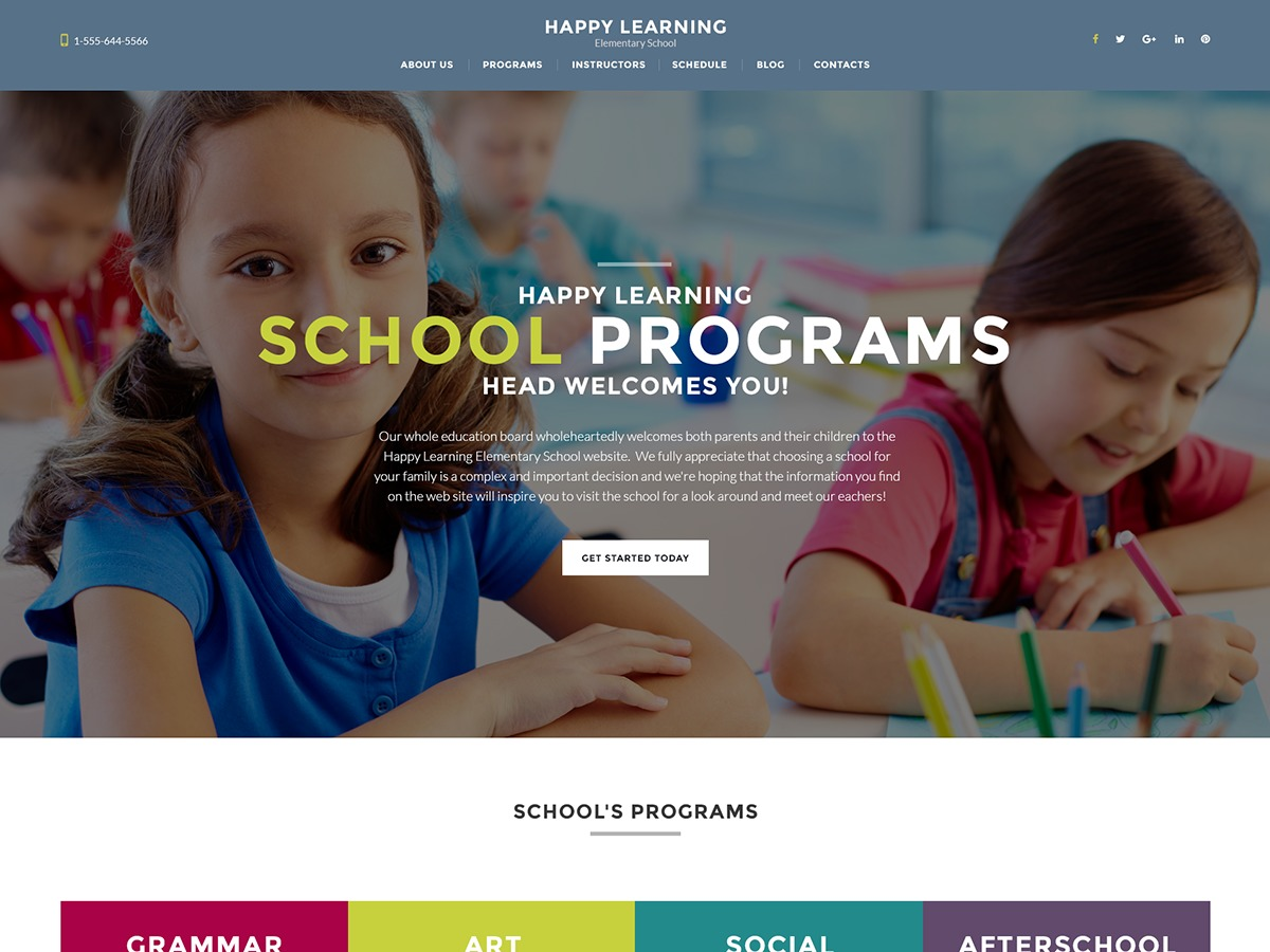 HappyLearning WP template