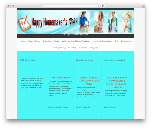 Isis Pro WordPress page template - thehappyhomemakerstips.com