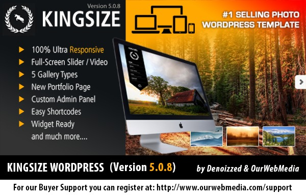 KingSize | Shared by themes24x7.com WordPress portfolio template
