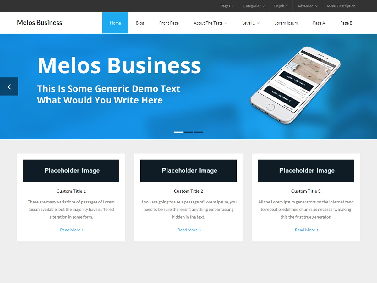 Melos Business business WordPress theme