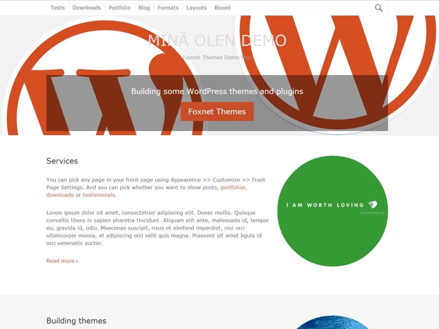 Mina olen WordPress template for business
