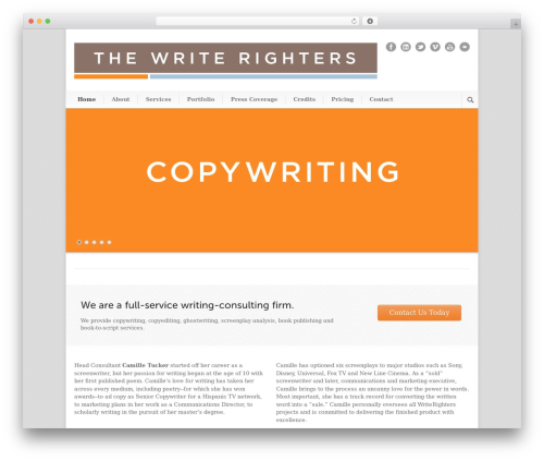Modernize WordPress theme - thewriterighters.com