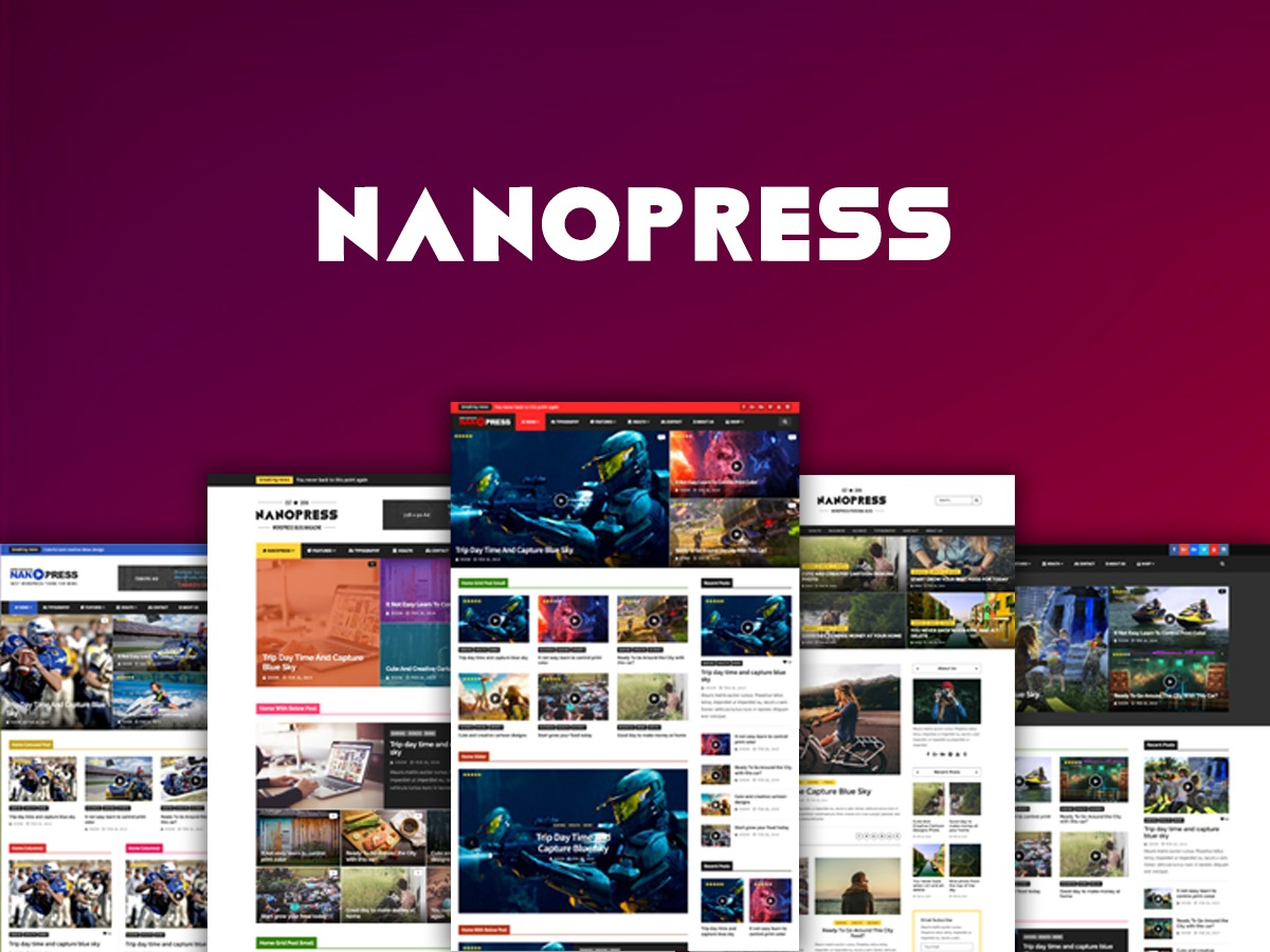 nanopress WordPress blog theme