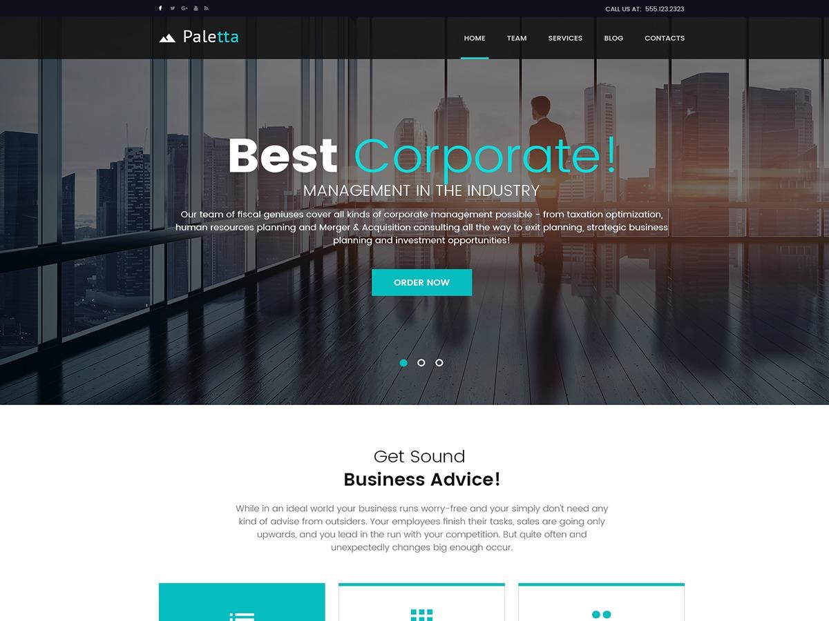 Paletta WordPress template for business