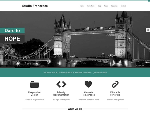 Studio Francesca WordPress blog template
