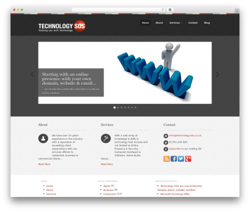 Swatch WordPress template - technology-sos.co.uk