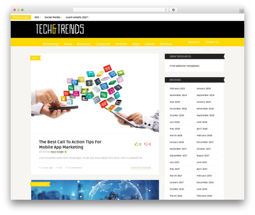 The Frog newspaper WordPress theme - techandtrends.com