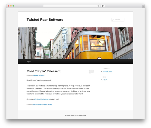 Twenty Eleven WordPress free download - twistedpearsoftware.com/blog