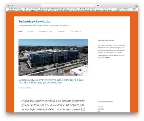 Twenty Twelve template WordPress free - technologyrevolution.it