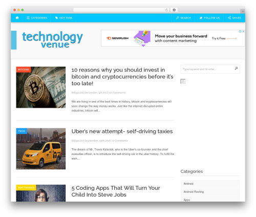 WordPress template Codilight - technologyvenue.com