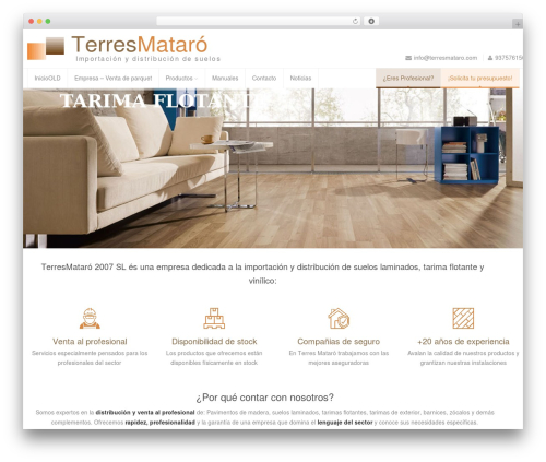 WordPress theme Astrum - terresmataro.com