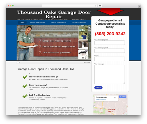 WPLeadPro theme WordPress - thousandoaksgarage.com