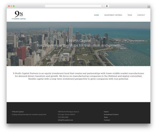 Akal WordPress template for business - 9ncapital.com