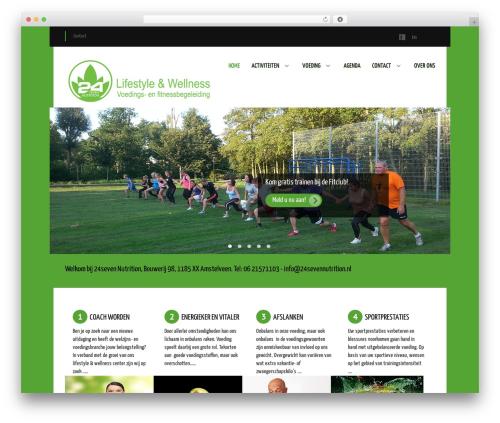 Balance gym WordPress theme - 24sevennutrition.nl