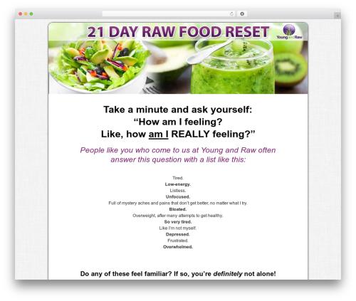 Bounce food WordPress theme - 21dayrawfoodreset.com