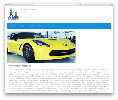 Fabify WordPress theme - sajers.lv